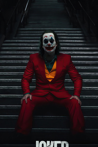 Joker Sitting On Stairs 4k