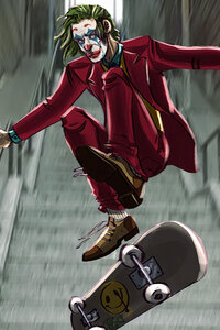 Joker Skateboarder