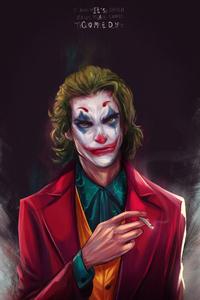 240x320 Joker Sketch Art New