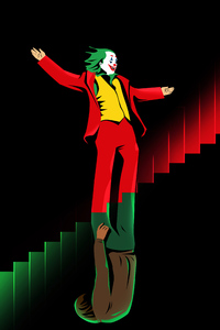 Joker Sketch Art Stairs
