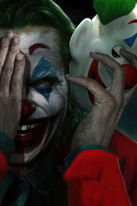 320x480 Joker Smile Mask Off