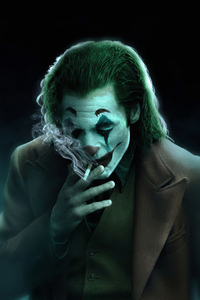 480x854 Joker Smoker Art 4k