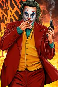 720x1280 Joker Smoker Gentlemen 4k