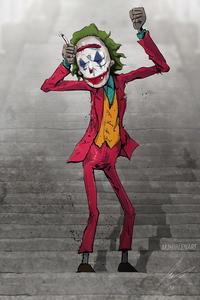 Joker Stair Dance 4k