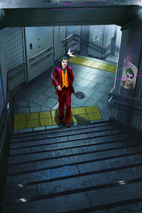 240x400 Joker Stairs 4k