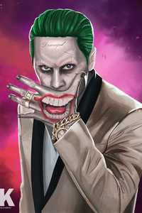 1080x2160 Joker Suicide Squad Artwork HD