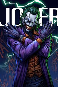 1242x2688 Joker Villian 4k