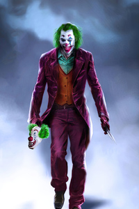 Joker Walk With Smile