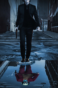 1440x2960 Joker Walking 4k