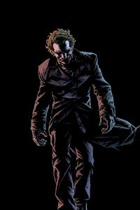 1125x2436 Joker Walking In Dark 4k