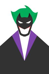 Joker White Minimal 8k
