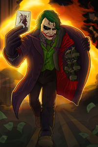 1280x2120 Joker With Bomb And Card