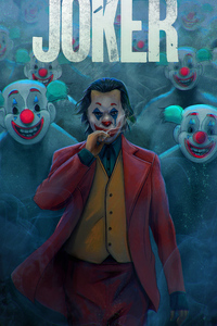 1080x2160 Joker With Clowns