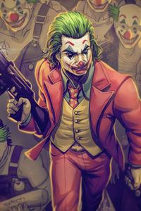 1242x2688 Joker With Gotham Clowns