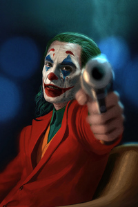 750x1334 Joker With Gun 2020 4k