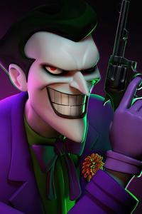 480x854 Joker With Gun And Smile 5k