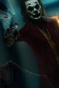 240x320 Joker With Gun Art 4k