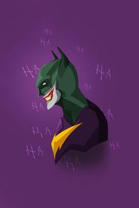 1242x2688 Joker X Batman Minimal 4k