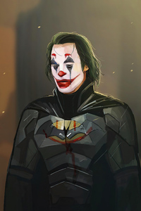 640x960 Joker X Batman Suit 4k
