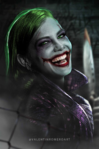 750x1334 Joker X Girl Cosplay 4k