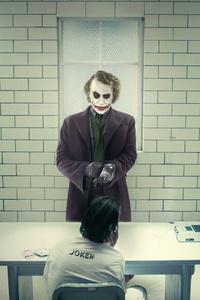 1125x2436 Jokers Meeting In Arkham 8k