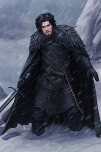 320x480 Jon Snow 4k Arts