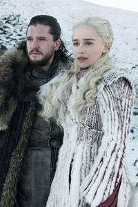 320x480 Jon Snow And Daenerys Targaryen Game Of Thrones Season 8