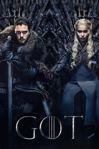 1440x2560 Jon Snow And Khalessi