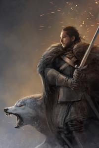 320x480 Jon Snow Fanartwork