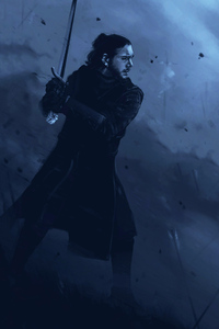 320x480 Jon Snow Game Of Thrones Art
