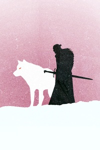 240x320 Jon Snow Game Of Thrones Minimalism