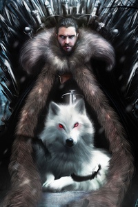 480x854 Jon Snow Game Of Thrones Season 8 Artwork