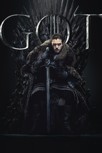 320x480 Jon Snow Game Of Thrones Season 8 Poster