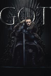 480x854 Jon Snow Game Of Thrones Season 8 Poster