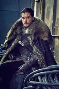Jon Snow Game Of Thrones Set Photo