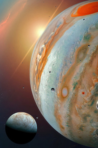 480x854 Jupiter Moons Space 5k
