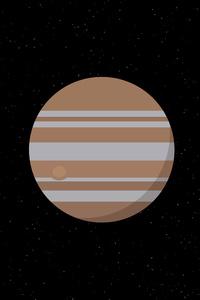 Jupiter Planet Minimalism 4k