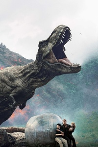 1242x2688 Jurassic World Fallen Kingdom 12k International Poster