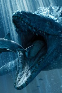 1080x2160 Jurassic World Underwater