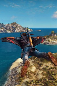 1242x2688 Just Cause 3 Flying Suit