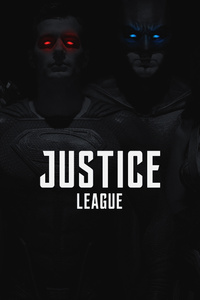 1125x2436 Justice League 2017 Monochrome Colored Eyes