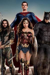 1080x2160 Justice League 2017 Movie Poster