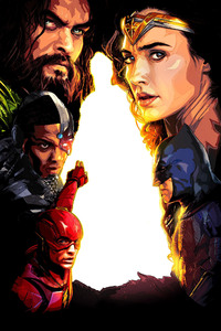 720x1280 Justice League 2017 New Poster