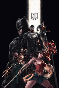 720x1280 Justice League 2020 Art 4k