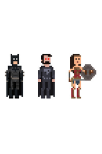 720x1280 Justice League 8 BIT Artwork