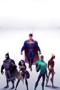 320x568 Justice League Artwork 2017