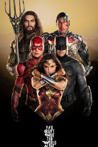 Justice League Characters Poster 4k