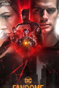 320x568 Justice League FanDome Poster 5k