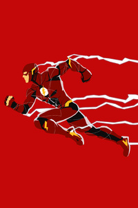 1125x2436 Justice League Flash Minimalism