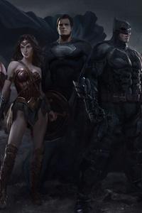 720x1280 Justice League Heroers Fanart 5k